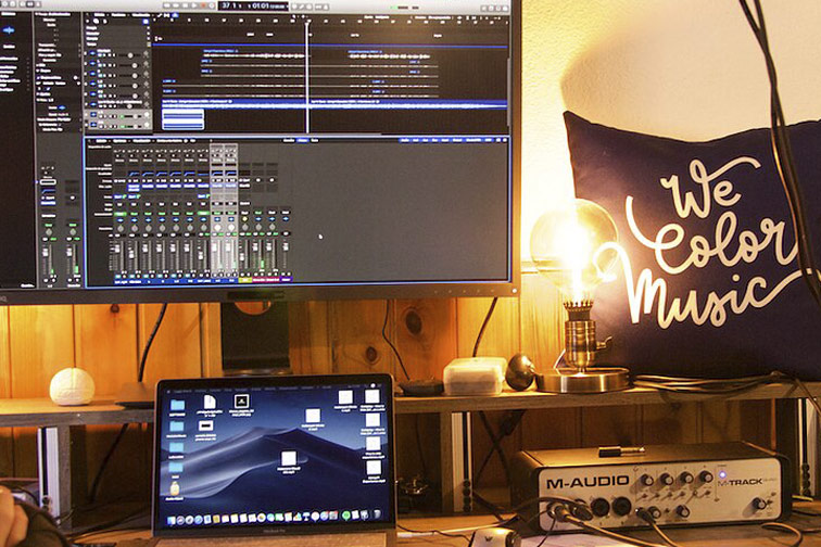music studio wecolormusic